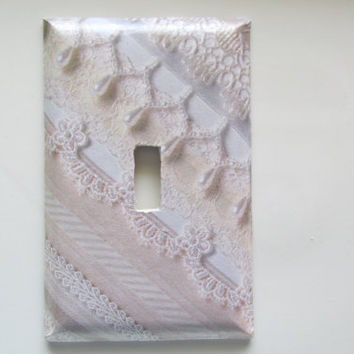 Lace and Pearl Switch Plate Cover