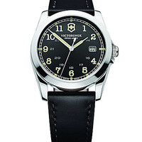 Victorinox Swiss Army Men's Infantry Black Dial Black Leather Strap Wa