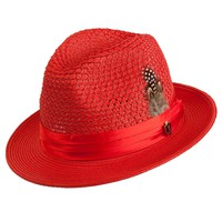 Antonio Center Dent Straw Fedora by Bruno Capelo