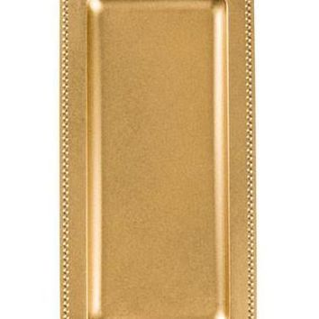 "Rectangle Serving Tray in Gold - 14"" Long"