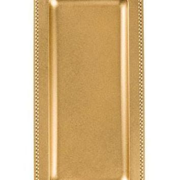 "Rectangle Serving Tray in Gold - 14"" L x 7"" W"