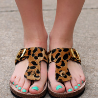 Walk With Me Sandal - Cheetah