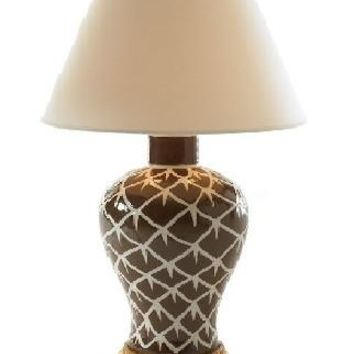 Bunny Williams Chicken Feather Table Lamp | Brown