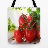 Fresh Tomatos Tote Bag by Tanja Riedel
