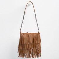 Madden Girl Fringe Crossbody Bag Cognac One Size For Women 25049940901