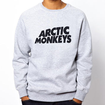 Arctic Monkeys Logo #2 Alex Turner rock band Unisex Grey Crewneck Sweatshirt