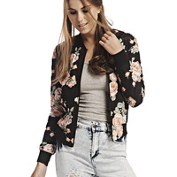 Quilted Floral Bomber Jacket | Wet Seal