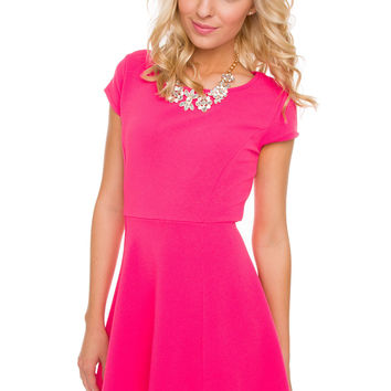 Crushin On You Dress in Fuchsia