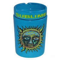 6oz OFFICIAL Sublime Ska Band Blue Medical Marijuana Herb Airtight Odor Resistant Stash Jar WITH Ash Tray Top