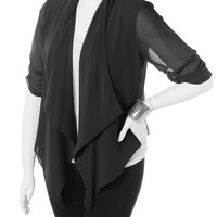 Plus Size Open Sheer Black Cardigan, Plus Size Clothing, Club Wear, Dresses, Tops, Sexy Trendy Plus Size Women Clothes