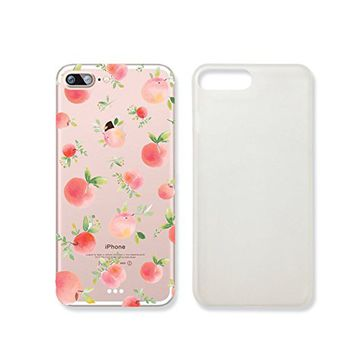 Peach Fruit Pattern Summer Transparent Plastic Phone Case for iphone 7PLUS _ SUPERTRAMPshop (iphone 7 plus)