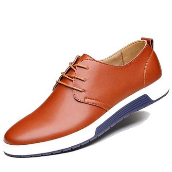 Casual Men  Genuine Leather Shoes  Flats Oxfords