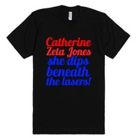 The lasers!-Unisex Black T-Shirt