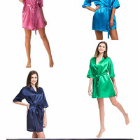 Bridesmaid robes   20 colors + Personalization   Satin robes   Bridal crew robes   Bridemaids gifts   Personalized robes   Dressing gowns