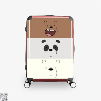 Color Stripes, We Bare Bears Suitcase