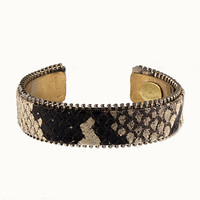 Plain Zipper Cuff - White Python — barrettadair's Collection