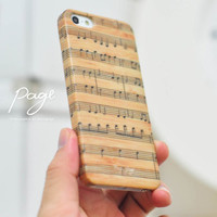 Apple iphone case for iphone iphone 3Gs iphone 4 iphone 4s iPhone 5 : Music note on vintage wood