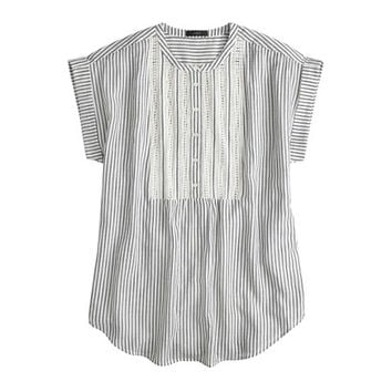 J.Crew Womens Gauze Tunic In Stripe