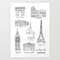 Europe at a glance Art Print by Color and Color