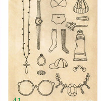Hand Embroidery Design Patterns - atsumi - Japanese Craft Book, Easy Embroidery Tutorial, Instructions - Kawaii, Girl Natural Motifs