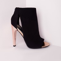 Missguided - Peep Toe Contrast Shoe Boot