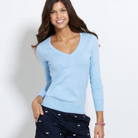 Womens Sweaters: Lighthouse V-Neck Sweater – Vineyard Vines