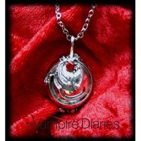 The Vampire Diaries Elena's Necklace Locket Pendant