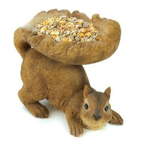 Gifts & Decor Woodland Brown Squirrel Outdoor Birdfeeder (Discontinued by Manufacturer)