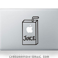 Juice--mac decal mac stricker mac pro decal mac air decal stickers macbook apple decal apple mac decal apple stickers