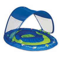 Swimways Baby Spring Float with Canopy - Blue with Divers