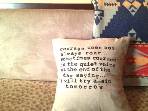 Linen Pillow Cover with HandStamped Quote by CasaAndCo on Etsy