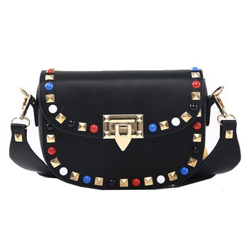 New Fashion Rivet Mini PU Leather Crossbody Bags