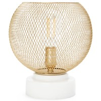 Cupcakes and Cashmere Gold Metal Mesh and Marble Up-Light