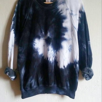 The Black Snake Tie-Dye Sweatshirt, tumblr, grunge, hipster