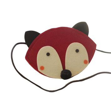 Red Fox Baby Purse Handmade Kids Daily Wear Non-woven Fabric Small Shoulder Bag