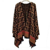 Fendi Women Knitwear Cardigan Irregular Jacket