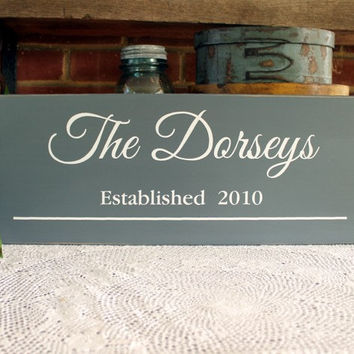 Family Name Sign Custom Personalized  Wood Wall Decor Wedding - Anniversary - Home Decor - Handcrafted