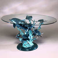 SPI Dolphin Seaworld Seascape Coffee Table