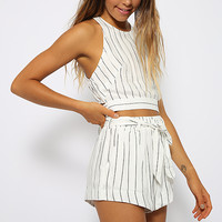 Wicked Games Crop - Stripe