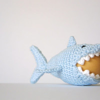 Crochet Shark Egg Cozy, PDF Pattern, Instant Download, Crochet Instructions,