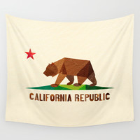 California Wall Tapestry by Fimbis