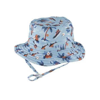 284863e4506 Baby Boys Bucket Hat Makai Blue Large by Dozer