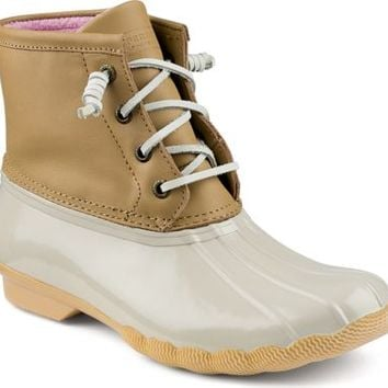 Sperry Top-Sider Saltwater Duck Boot Sand/Ivory, Size 8M  Women's Shoes