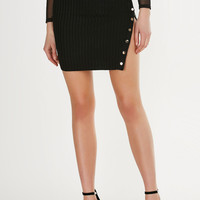 Heated Ribbed Mini Skirt