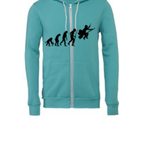 harry potter evolution - Unisex Full-Zip Hooded Sweatshirt