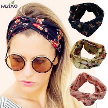 10colors Fashion Retro Women Elastic Turban Twisted Knotted Headband Ethnic