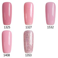 Modelones 10ml Sweet Lover Gel Polish Soak Off Nail Gel Polish Shiny Color Nail Gel Need UV Lamp Professional