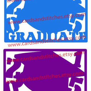 Graduation Hats for 2015 Digital Cutting File (SVG, DXF, JPG)