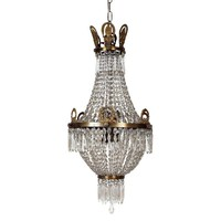 Pre-owned 1950s Cut Glass Regency Style Chandelier