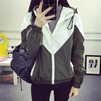 Jackets Women 2016 New Jacket Women's Hooded Women Jacket Fashion Thin Windbreaker Men Outwear Women Coat